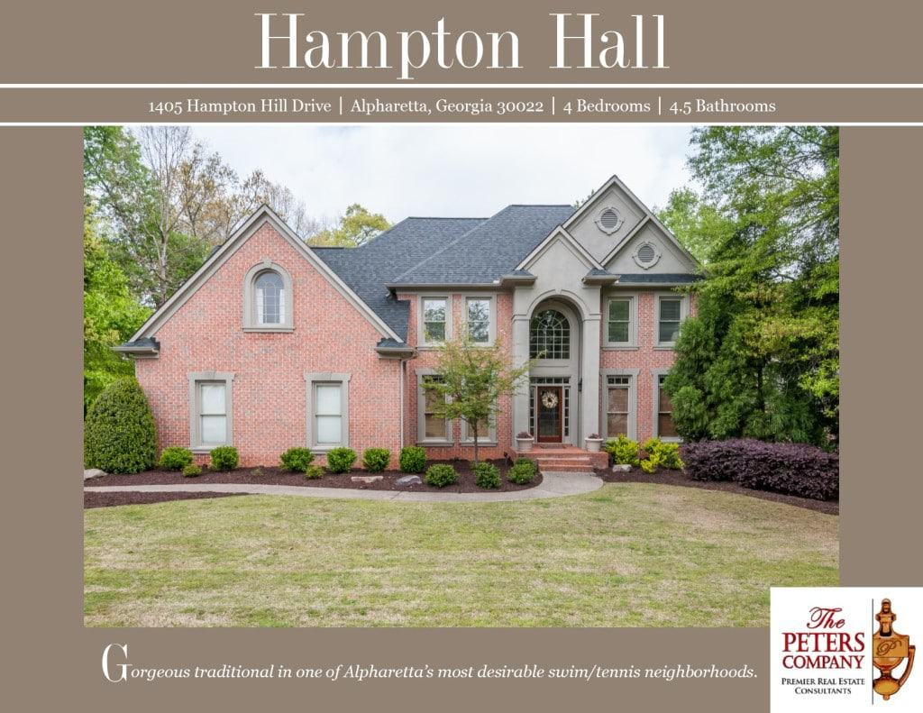 1405 Hampton Hill Drive Flyer front